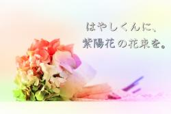 はやしくんに、紫陽花の花束を。