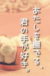 あたしを撫でる、君の手が好き。