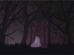 暗闇の中の少女